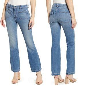 Current/Elliott Cropped Bootcut Fairwater Jeans